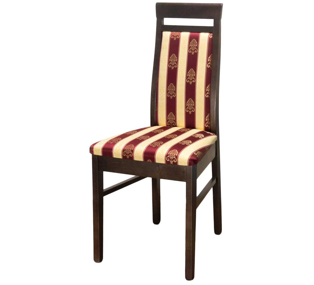 Деревянный кухонный стул венге полоса красная С-5А (арт. М3205)