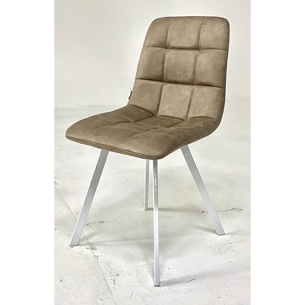 Мягкий стул в современном стиле, цвет теплый серый (арт. М3423)