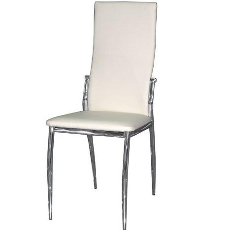 Стул для кухни белый, удобный, с мягкой спинкой и сидением (арт. М3236)