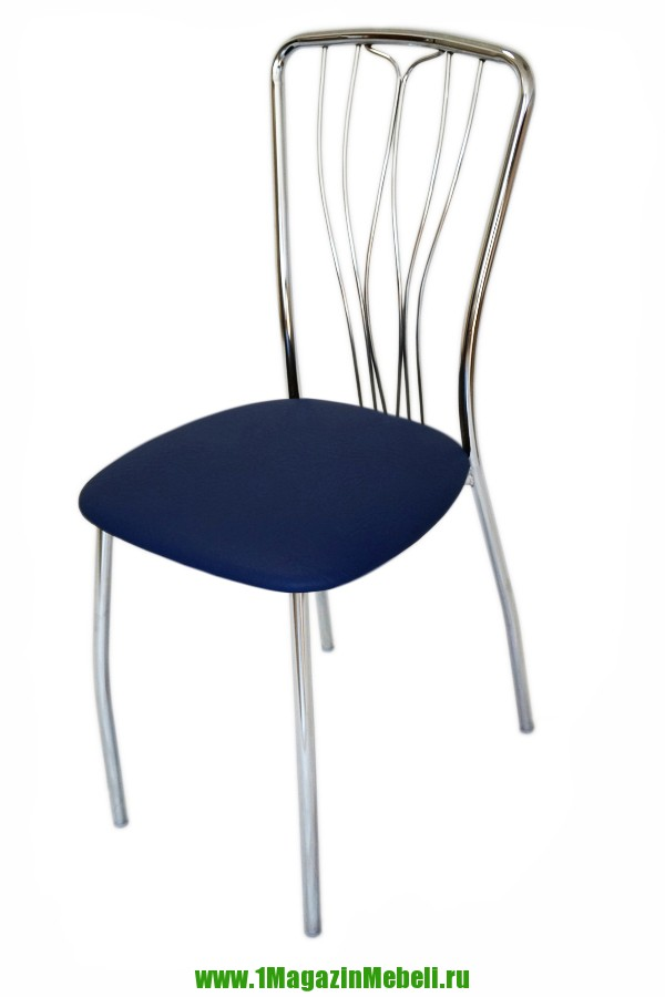 Стул для дома, кухонный, цвет синий, металлический (арт. М3134)
