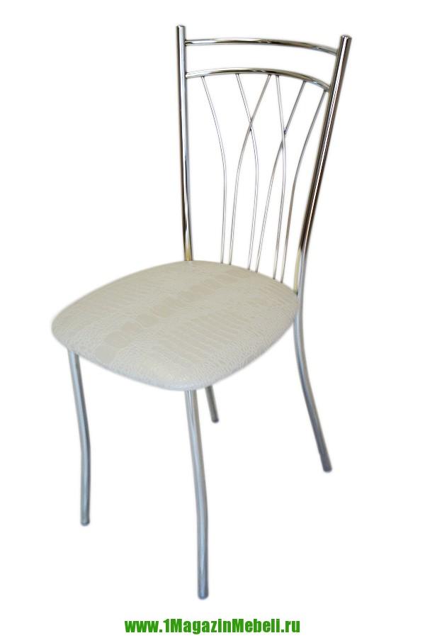 Кухонный стул металлический, белый крокодил (арт. М3177)