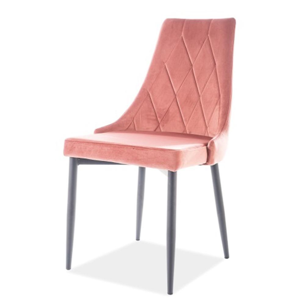 Мягкий стул для кухни с прострочкой ромб по спинке (арт. М3504)