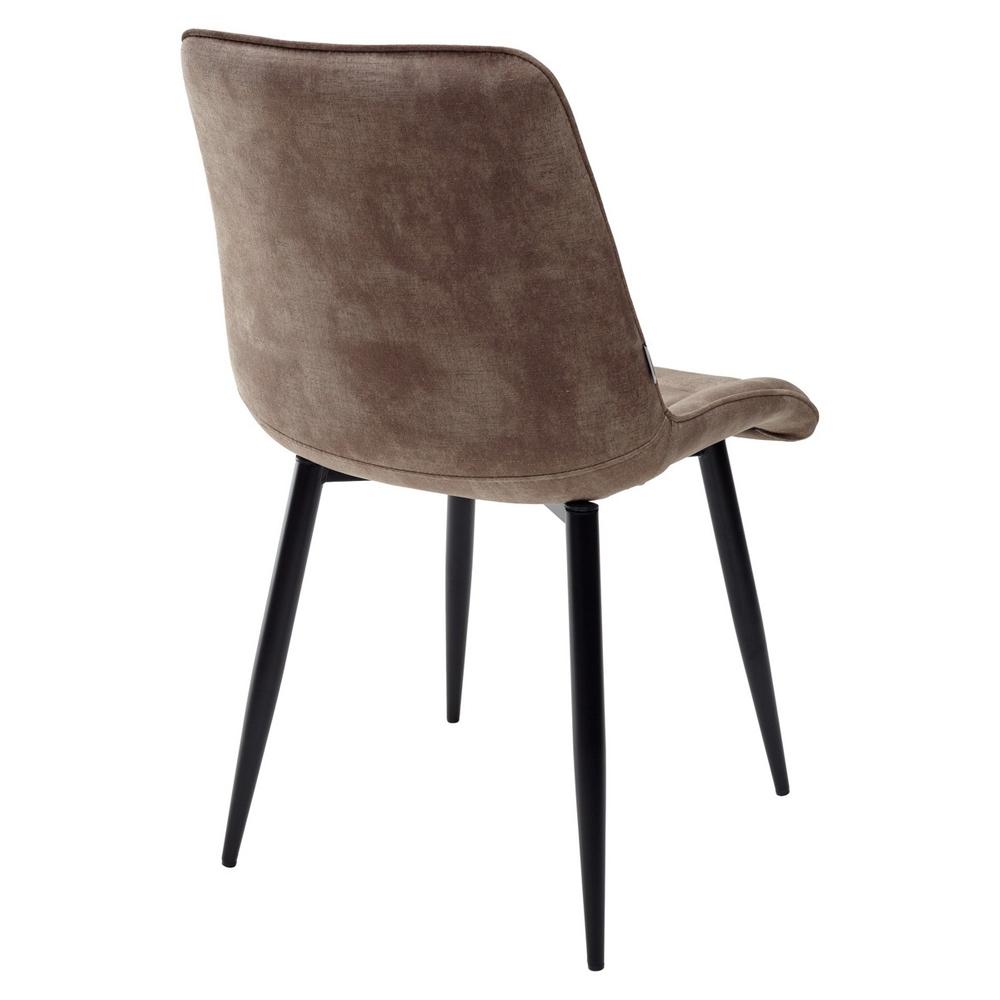 Мягкий велюровый стул в цвете античный серо-бежевый (арт. М3520)