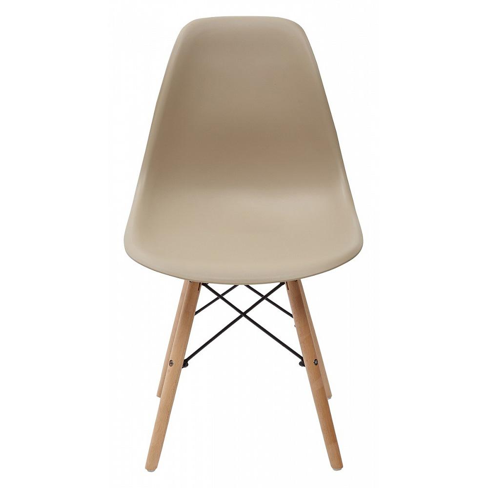 Недорогой пластиковый стул, цвет нуга (арт. М3416)