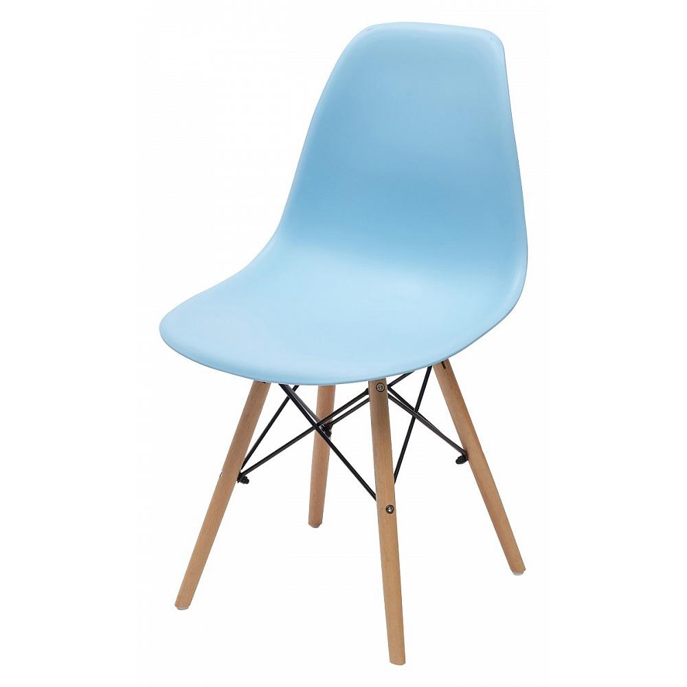 Стул пластиковый со спинкой, цвет голубой (арт. М3417)