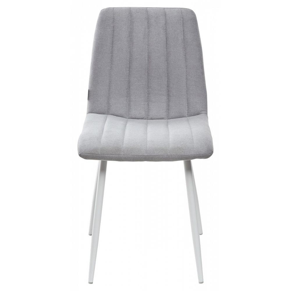 Светло-серый стул с белыми ножками (арт. М3477)