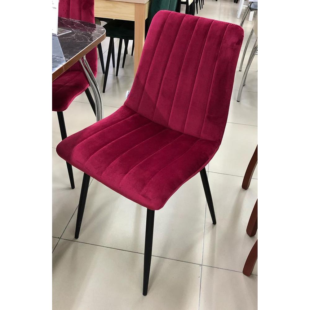 Малиновый стул для кухни на металлокаркасе (арт. М3538)