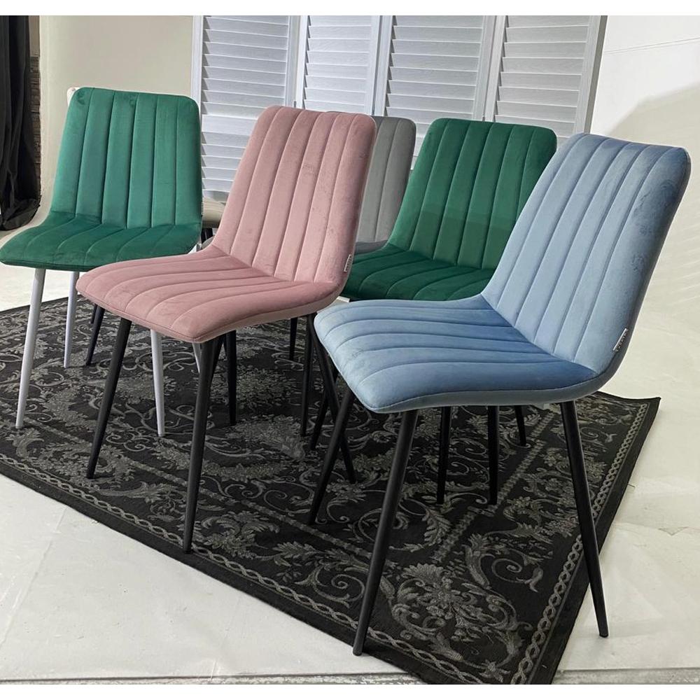 Розовый стул с белыми ножками (арт. М3533)