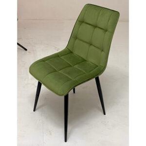 Стул зеленый велюр М3515