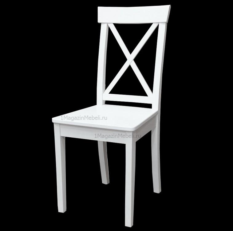 Белый стул жесткий из дерева (арт. М3547)