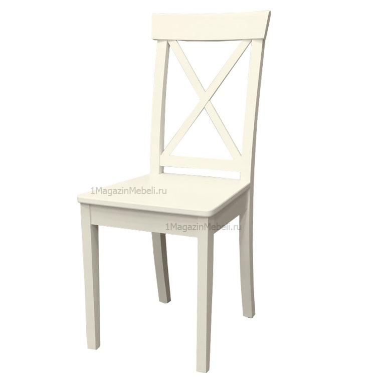 Деревянный стул с жестким сидением слоновая кость (арт. М3546)