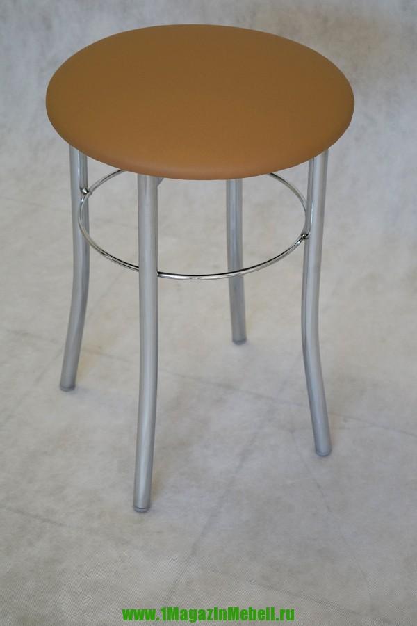Светло-коричневый табурет для кухни, металлический (арт. М3122)