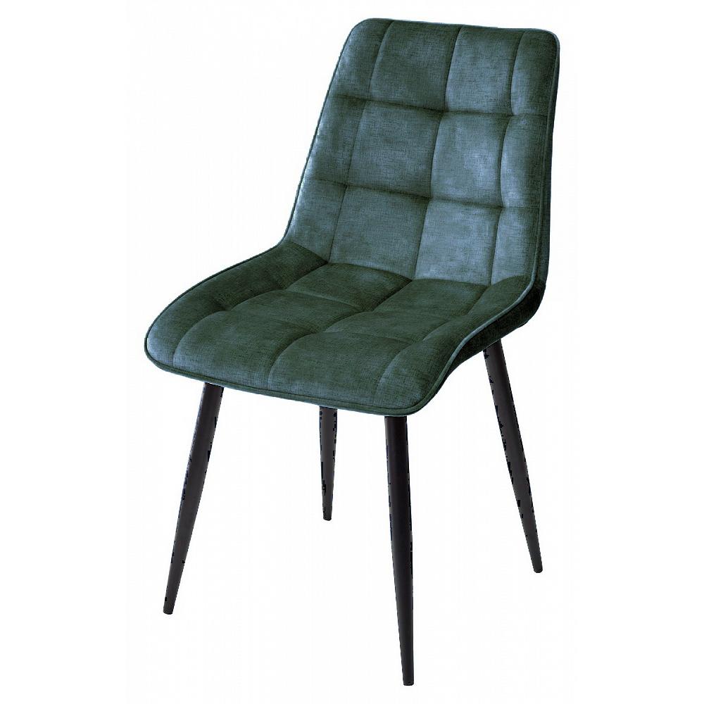 Темно-зеленый стул для кухни, велюр (арт. М3524)