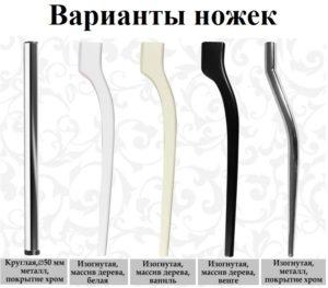Варианты ножек грация фотопечать