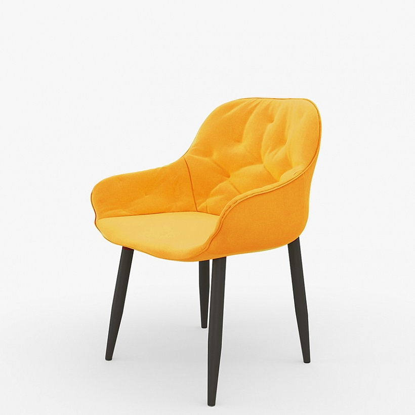 Оранжевый мягкий стул для кухни (арт. М3402)