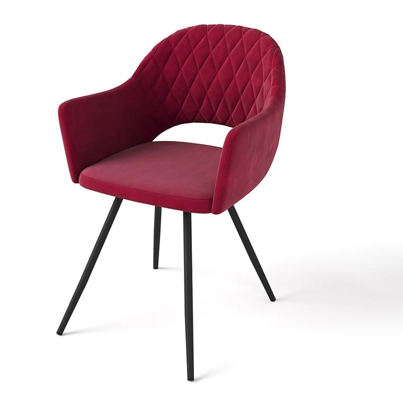 Красный велюровый стул для кухни (арт. М3380)