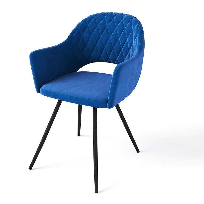 Яркий стул синего цвета для кухни (арт. М3377)