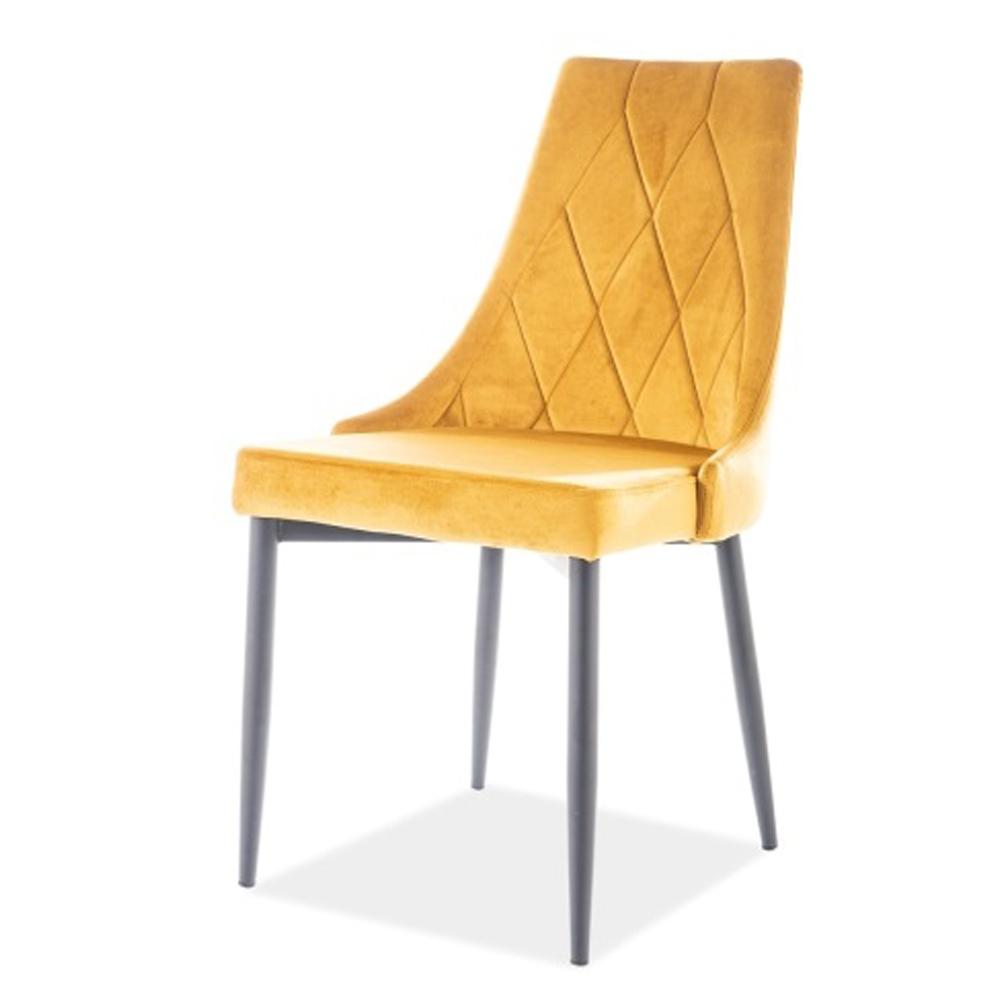 Мягкий кухонный стул, цвет желтый (арт. М3506)