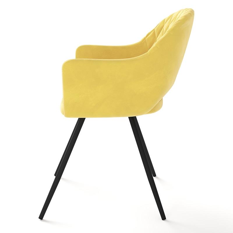 Яркий современный стул для кухни, цвет желтый велюр (арт. М3379)