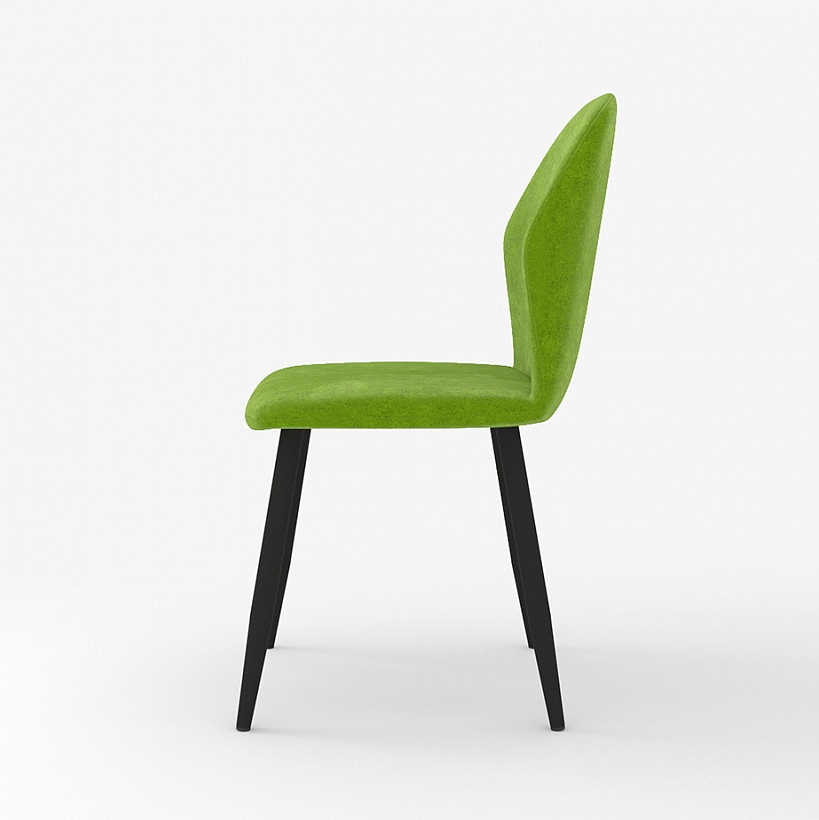 Стильный стул для кухни, зеленая ткань вельвет (арт. М3387)
