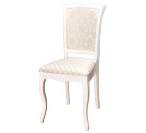 белый деревянный стул с изогнутой спинкой и узором м3243