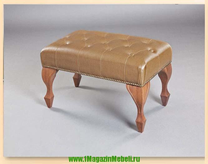 Красивая банкетка для дома в прихожую, грецкий орех, 501034 (арт. М2035)