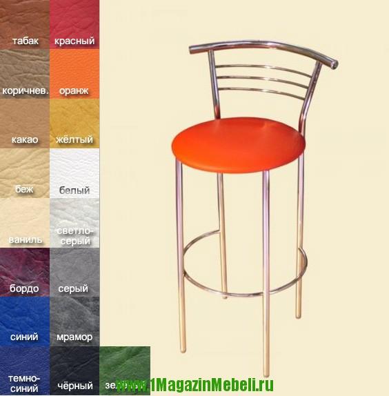 Купить стулья барные для кафе, бара и дачи, хром (арт. М3011)