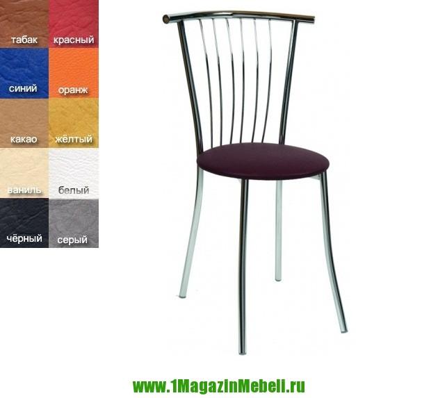 Купить металлические стулья Дельта, хром, кож. зам HS006 (арт. М3013)