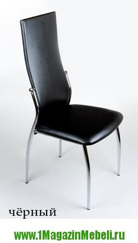 Черные мягкие стулья для кухни, из металла, хром JD2368 (арт. М3082)