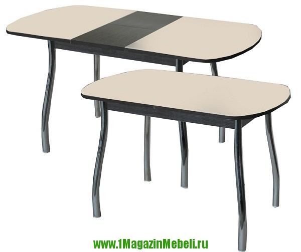 Овальный раздвижной стеклянный стол для кухни (арт. М4073)