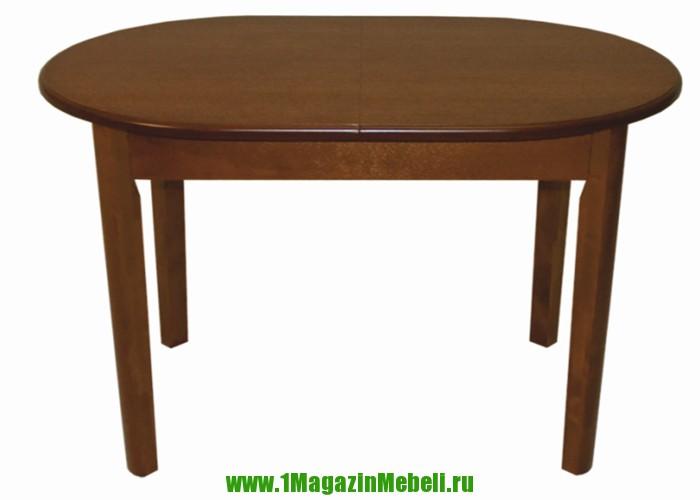 Овальный стол из массива 106 на 70 см. раскладной ВМ 40 (арт. М4097)