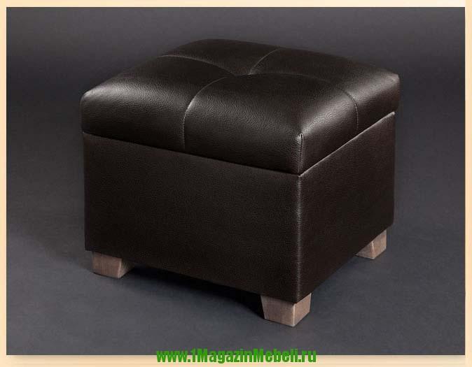 Пуфик в прихожую темный шоколад, темно-коричневый 501236 (арт. М2048)