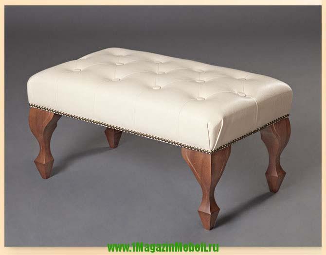 Скамья банкетка 501034 мягкая бежевая для спальни (арт. М2043)