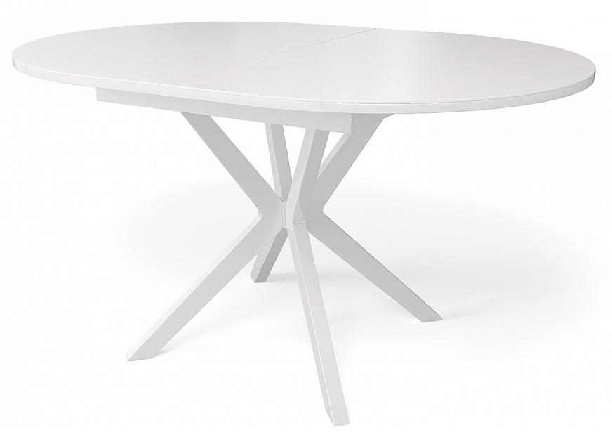 Стол Kenner B1300 раздвижной, белый — кремовый глянцевый (арт. М4461)