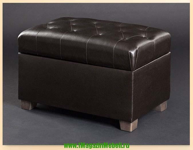 Темно-коричневая банкетка с ящиком для обуви 400100 (арт. М2057)