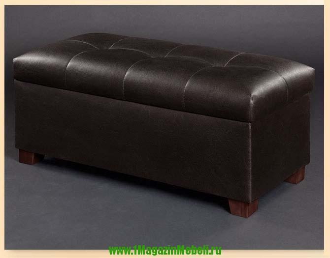 Банкетка 300370 темный шоколад, кож. зам. темно-коричневая (арт. М2065)