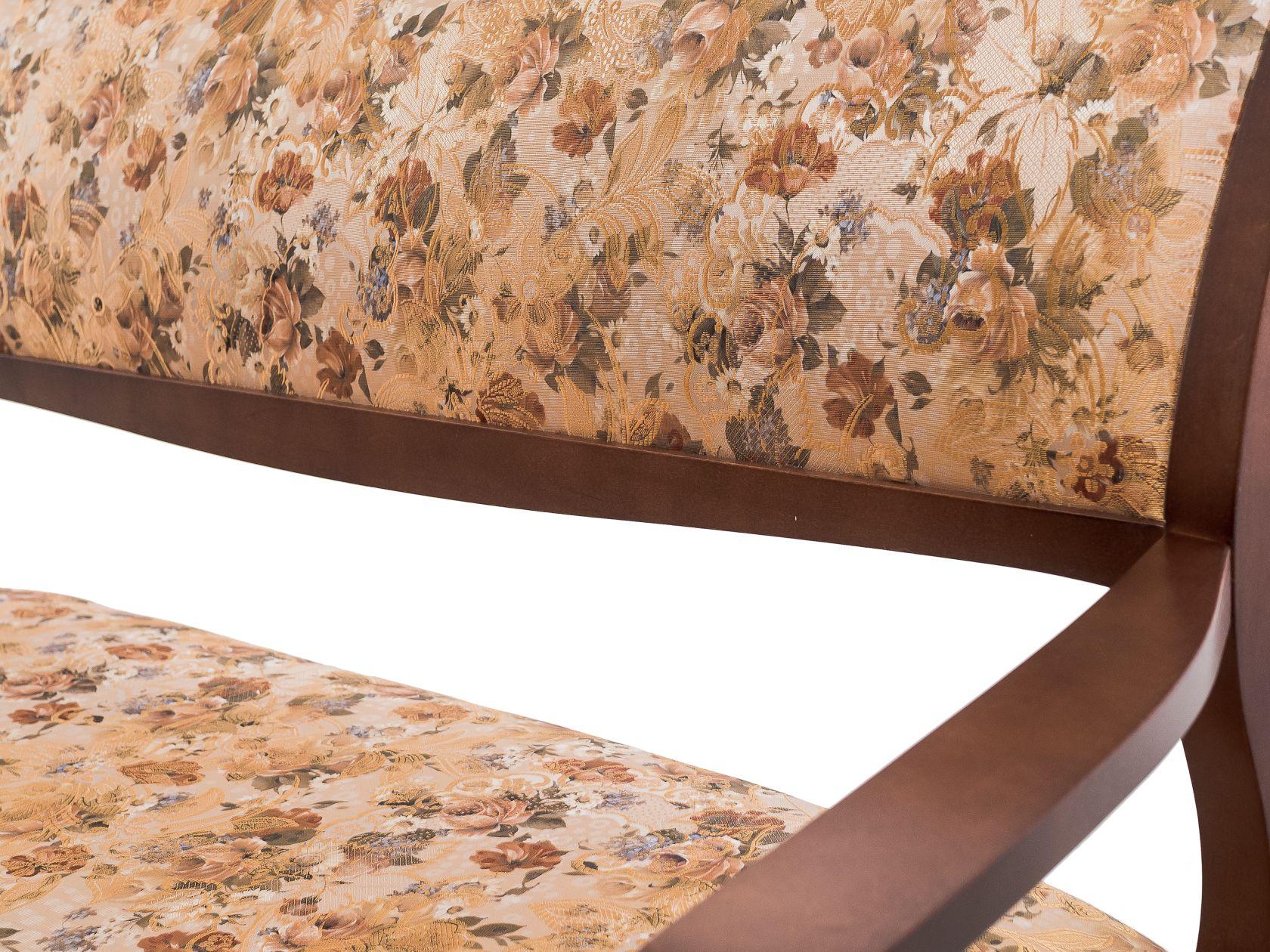 Банкетка со спинкой в прихожую орех деревянная (арт. М2085)