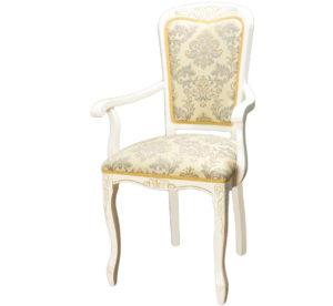 Белый стул с подлокотниками кресло для кухни м3344