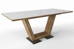 Большой обеденный стеклянный стол Виктория м4378