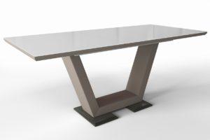 Большой стеклянный стол м4379