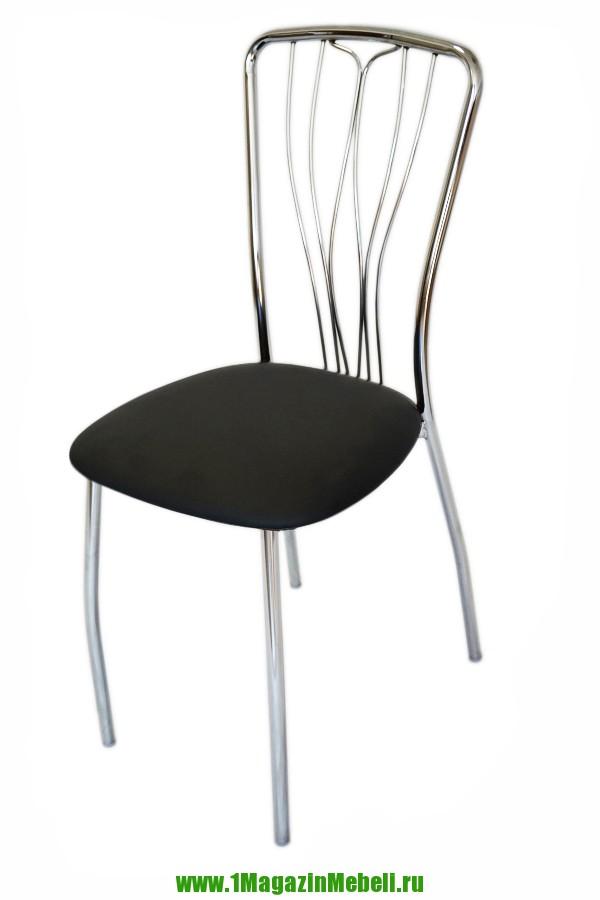 Черный металлический стул, кухонный, недорого (арт. М3140)