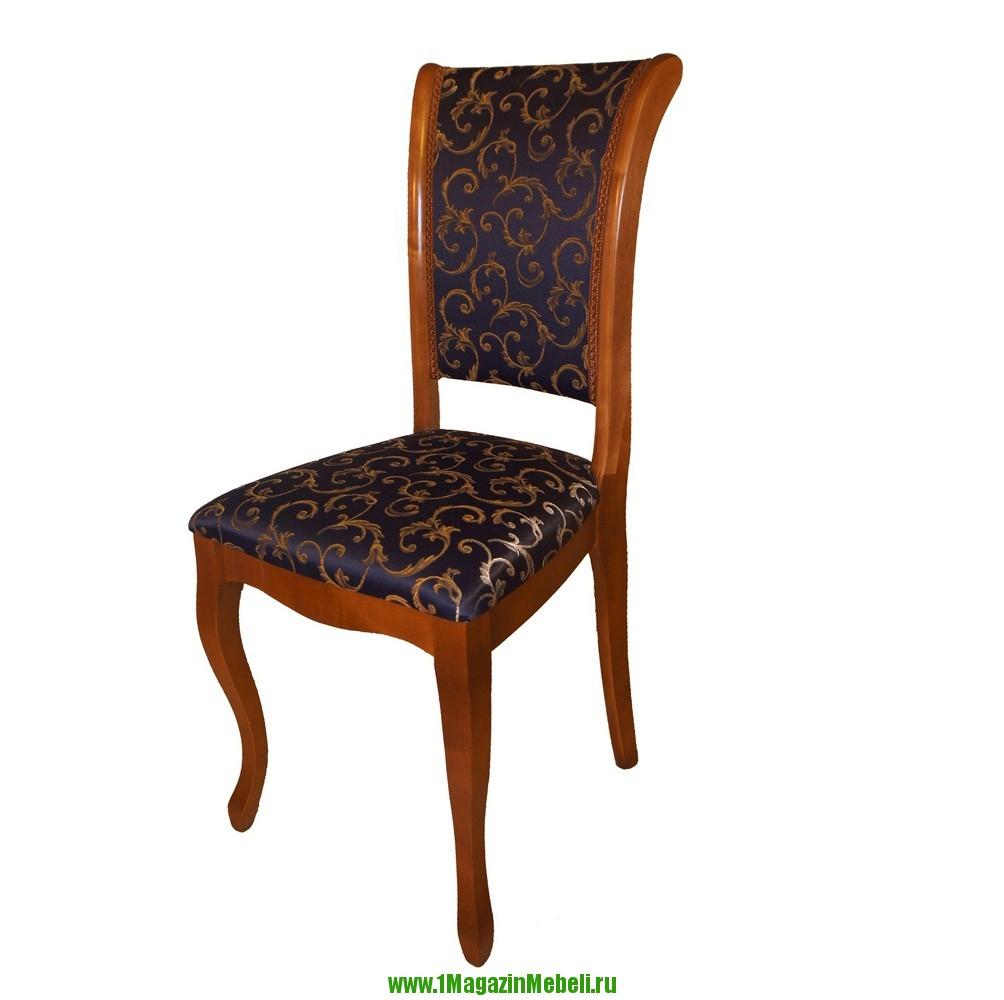 Деревянный стул для кухни, С6 прато синий тон 3 (арт. М3031)