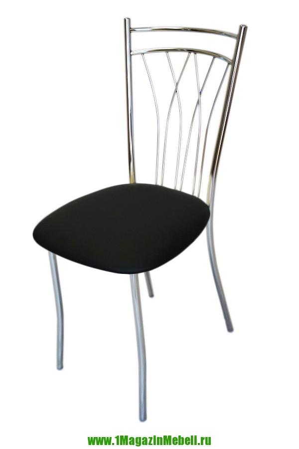 Кухонные стулья металлические, черные, хром (арт. М3171)