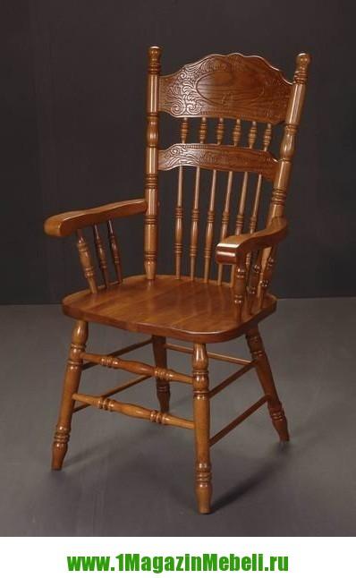 Кресло деревянное 828 A GR цвет золотисто-коричневый (арт. М3044)