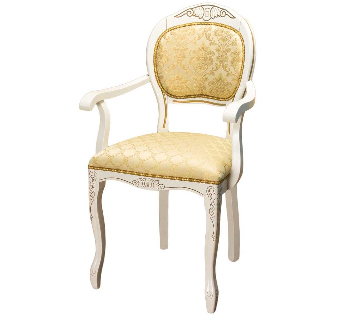 Кресло Лауро патина золото (арт. М3355)