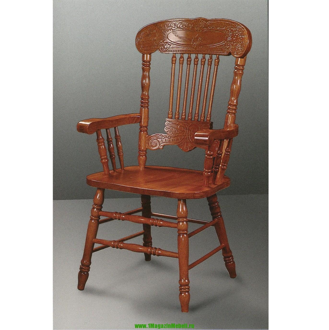 Резное кресло 838A GR цвет золотисто-коричневый (арт. М3043)