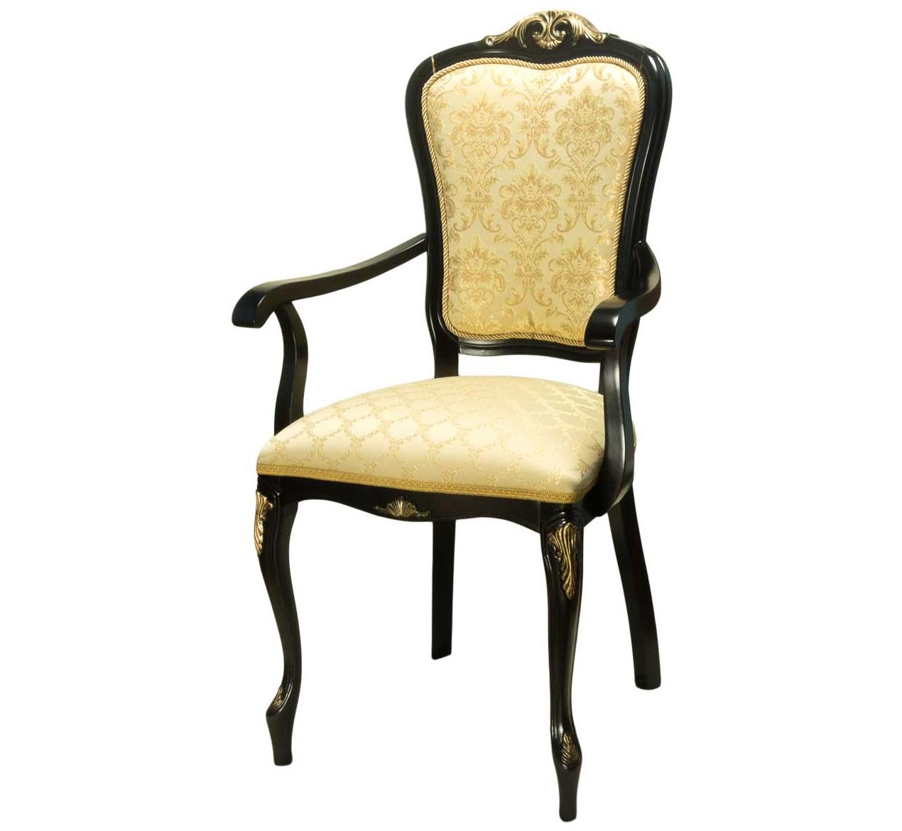 Стул кресло цвет черный с подлокотниками (арт. М3357)
