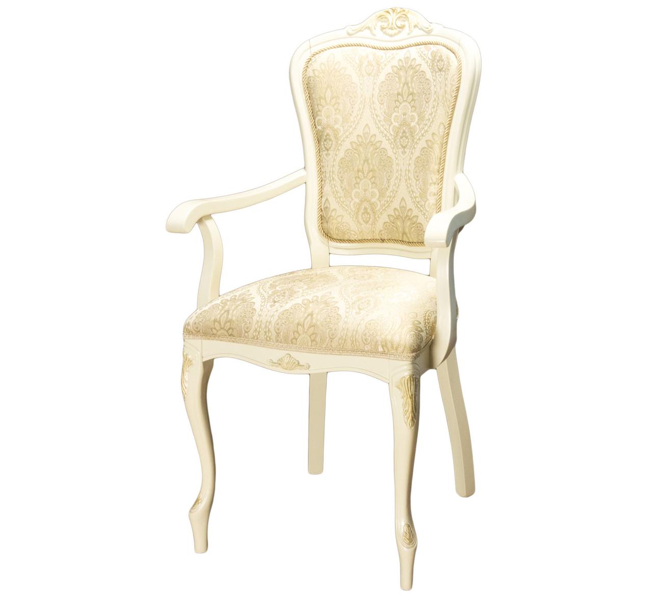 Кресло-стул для кухни с подлокотниками бежевый (арт. М3356)