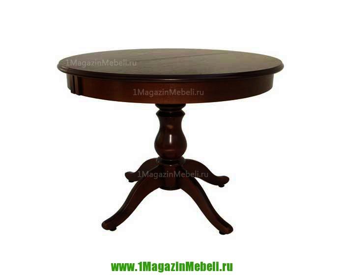 Стол деревянный раздвижной Альт 9-11 тон 9, круглый (арт. М4171)