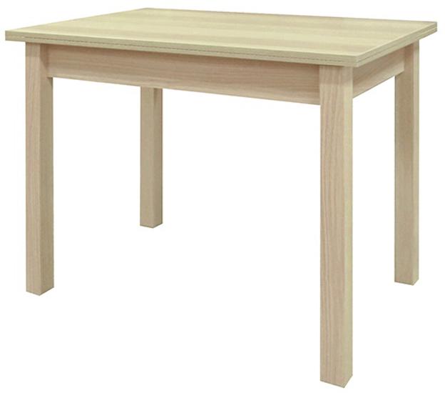 Стол обеденный недорого цвет дуб беленый 90-120 см. раздвижной (арт. М4298)
